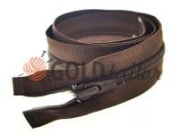 Zipper spiral type 5 on one slider 40 cm - 85 cm, brown 046