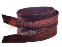 Zipper spiral type 5 on one slider 40 cm - 85 cm, brown 041