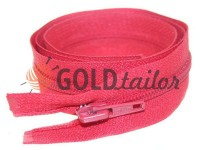 Zipper spiral type 5 on one slider 40 cm - 85 cm, red 244
