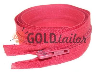 Блискавка спіральна тип 5 на один бігунок 40 см - 85 см, колір червоний 244 купити оптом і вроздріб
