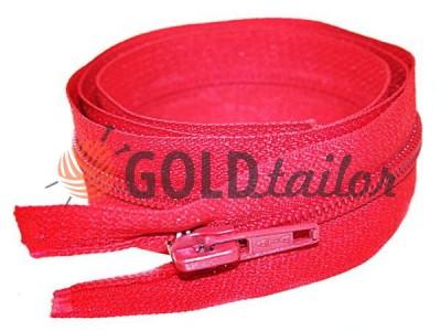Блискавка спіральна тип 5 на один бігунок 40 см - 85 см, колір червоний 248 купити оптом і вроздріб