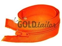 Zipper spiral type 5 on one slider 40 cm - 85 cm, orange 034