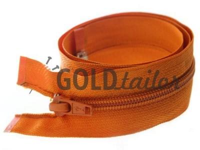 Блискавка спіральна тип 5 на один бігунок 40 см - 85 см, колір помаранчевий 035 купити оптом і вроздріб