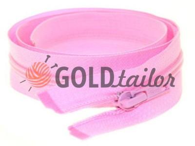 Блискавка спіральна тип 5 на один бігунок 40 см - 85 см, колір рожевий 005 купити оптом і вроздріб