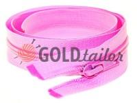 Блискавка спіральна тип 5 на один бігунок 40 см - 85 см, колір рожевий 007