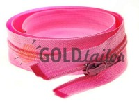Блискавка спіральна тип 5 на один бігунок 40 см - 85 см, колір рожевий 009