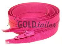 Блискавка спіральна тип 5 на один бігунок 40 см - 85 см, колір рожевий 163