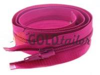 Блискавка спіральна тип 5 на один бігунок 40 см - 85 см, колір рожевий 217