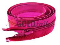 Блискавка спіральна тип 5 на один бігунок 40 см - 85 см, колір рожевий 278