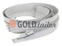 Zipper spiral type 5 on one slider 40 cm - 85 cm, gray 109
