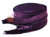 Блискавка спіральна тип 5 на один бігунок 40 см - 85 см, колір фіолетовий 023