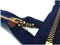 Блискавка джинсова YKK тип 4.5, довжина 12 см, 18 см, колір коричневий