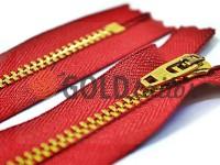 Блискавка джинсова YKK тип 4.5, довжина 12 см, 18 см, колір червоний