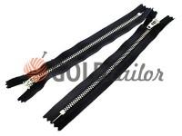 Блискавка джинсова YKK тип 4.5, довжина 12 см, 18 см, колір чорний, зуб нікель