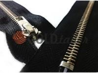 Блискавка джинсова тип 4, довжина 18 см, колір чорний, зуб нікель