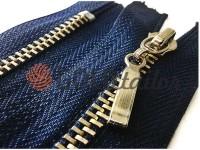 Блискавка металева карманна тип 4, довжина 16 см, колір синій, зуб нікель