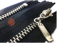 Zipper metal pocket type 4, length 19 cm, black, nickel teeth