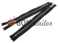 Блискавка металева карманна тип 4, довжина 19 см, колір чорний, зуб нікель