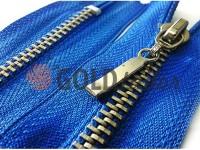 Блискавка металева карманна тип 4, довжина 16 см, колір блакитний, зуб нікель