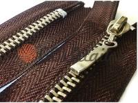 Блискавка металева карманна тип 4, довжина 16 см, колір коричневий, зуб нікель