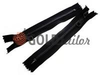 Блискавка металева карманна тип 5, довжина 16 см, колір чорний, зуб антик
