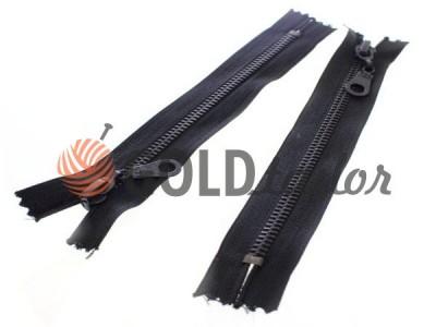 Купити блискавку джинсову тип 5, довжина 16 см, колір чорний, зуб антик