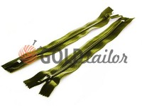 Zipper trousering spiral 20 cm type 4, color olive 093