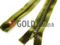 Блискавка брючна спіральна 20 см тип 4, колір оливковий 093