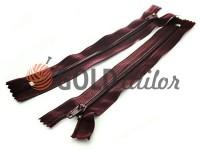 Zipper trousering spiral 18 cm type 4, color bordo 012