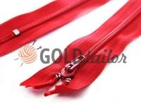 Молния брючная спиральная 18 см тип 4, цвет красный 010
