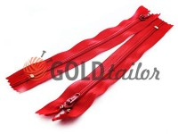 Zipper trousering spiral 18 cm type 4, color red 010