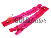 Zipper trousering spiral 18 cm type 4, color pink 009