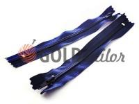 Молния брючная спиральная 18 см тип 4, цвет синий 071