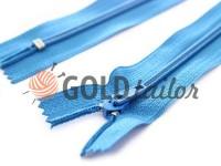 Zipper trousering spiral 18 cm type 4, color blue 177