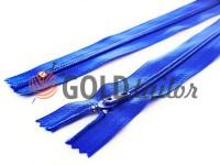 Молния брючная спиральная 18 см тип 4, цвет голубой 058