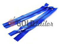 Zipper trousering spiral 18 cm type 4, color blue 058