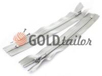 Молния брючная спиральная 18 см тип 4, цвет серый 107