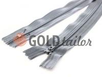 Молния брючная спиральная 18 см тип 4, цвет серый 109