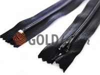 Молния брючная спиральная 18 см, 20 см тип 4, цвет черный
