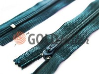Zipper trousering spiral 18 cm type 4, color green 085