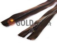 Молния брючная спиральная 18 см тип 4, цвет коричневый 047