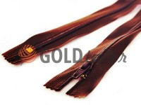 Zipper trousering spiral 18 cm type 4, color brown 048
