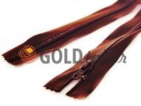 Молния брючная спиральная 18 см тип 4, цвет коричневый 048
