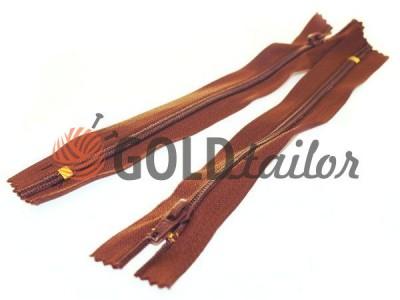 Блискавка брючна спіральна 18 см тип 4, коричневий 048 оптом і вроздріб від 1 шт