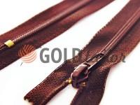 Zipper Baryshevskaya strengthened shoe spiral 18 cm type 6, color brown 048