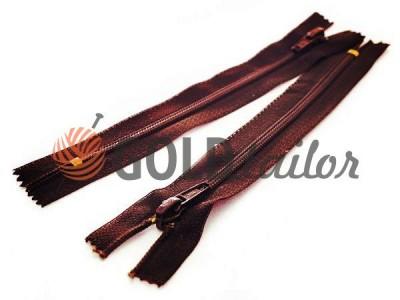 Блискавка Баришівська посиленна взуттєва спіральна 18 см тип 6, коричневий 048 оптом і вроздріб від 1 шт