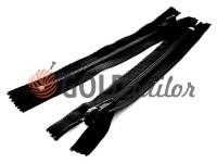 Zipper Baryshevskaya strengthened shoe spiral 10 cm - 60 cm type 6, color black