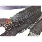 Блискавка Баришівка спіральна посилена тип 6 на один бігунок 50 см - 150 см, колір чорний