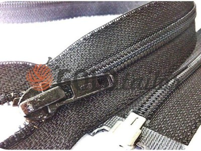 Блискавка Баришівка кручена посилена тип 6 на один бігунок 50 см — 150 см, колір чорний купити оптом і вроздріб