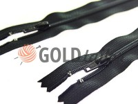 Блискавка YKK брючна спіральна 18 см тип 4, колір чорний